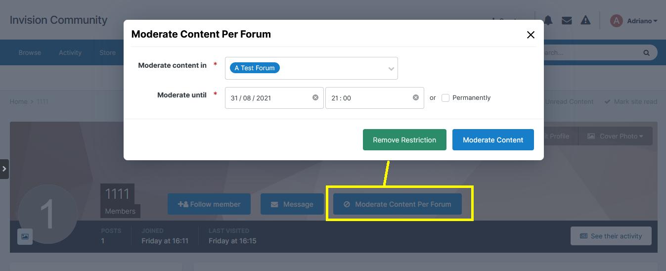 Moderate Content Per Forum